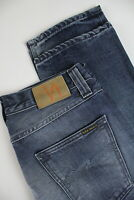 NUDIE Jeans STEADY EDDIE ORG. DEEP TWILL Men's W33/L32 100% Organic Jeans 0909_