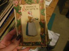 Walter Baker & Co Chocolate Cocoa Vtg 1925 Choice Recipes Advertising Cookbook