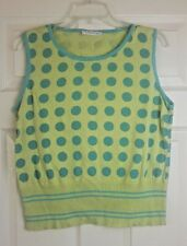George Ladies Green Spotted Sleeveless Tank Top Vest jumper Size 16/44