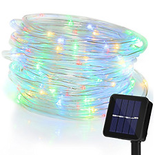Solar 100 Led Fairy String Lights 10M with Eight Modes Flexible Pipe Protection