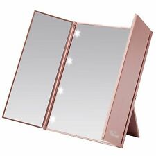 Miss Sweet Led Lighted Tri-Fold Makeup Mirror Travel Mirror Compact Mirror