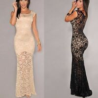 Womens Sexy Lace Bodycon Evening Party Cocktail Prom Ball Gown Maxi Long Dresses