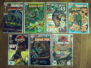 TOPPS COMICS - JURASSIC PARK THE LOST WORLD 7 COLLECTORS ISSUE SET - RARE 1997