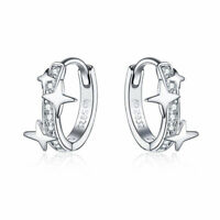 Wostu 925 Sterling Silver Earrings Gifts Ear Huggie European Women Jewelry Gifts