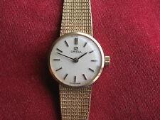 Omega Vintage Ladies Wrist Watch, 9K Gold Case & Bracelet, ca 1970s LNIB
