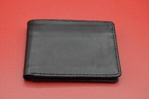 Genuine Dollar Size  Soft Leather Handmade wallet New Black