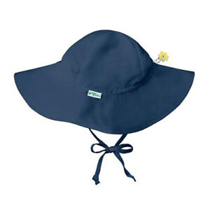 iPlay Water Resistant Wide Brim Sun Protection Shade Hat Ties Under Chin 15731