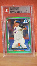 2014 Bowman Chrome Green Refractor Bartolo Colon Card BGS 9.