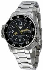 Seiko Men's SKZ211J1 Black Dial Stainless Steel Made In Japan Watch