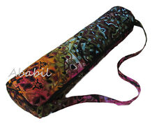 Handmade Mandala Tie Dye Indian Large Yoga Mat Carrier Bag with Shoulder Strap