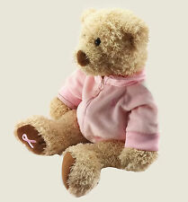 "Gund Plush 17"" Bear Teddy Hope Breast Cancer Awareness Tan 2002 Stuffed Animal"