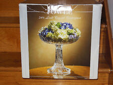 Huge Towle Crystal Compote Center Piece Fruit Bowl Display Dish Czech Gift NIB