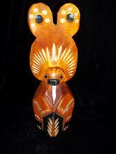 "12""  BEAR KUMA hand wood carving HOKKAIDO JAPAN"