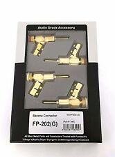 Furutech Banana Connector FP-202 (G) Gold Plating 4pcs  Audio Plug Japan
