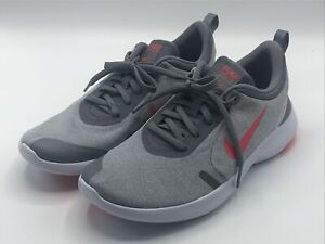 Nike Women's Size 8 Flex Experience RN 8 Grey Red Sneakers AJ5908 004 New!