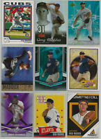 2004-2013 Greg Maddux Mixed Lot 9 Different Cards Cubs Braves Padres Dodgers