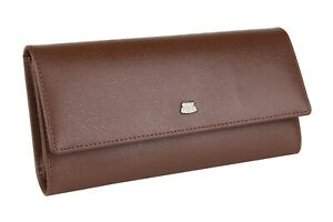 City Flyer RFID Genuine Leather Wallet Women Card Holder Large Capacity Clutch