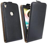 Handy Tasche Hülle Schutz in Schwarz für Alcatel SHINE LITE ( 5080X ) @COFI