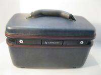 Samsonite Silhouette 4 Train Makeup Case with Keys EUC Vintage Navy Luggage