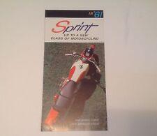 1961 Harley Davidson Sprint 250 Motorcycle Brochure