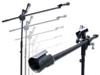 Mikrofon Stativ Galgen Mikrofonständer + Mikrofonklammer Mikrofon-Stativ schwarz