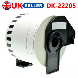THERMAL CONTINUOUS ADHESIVE LABEL ROLLS FITS BROTHER DK22205 DK-22205 PRINTERS