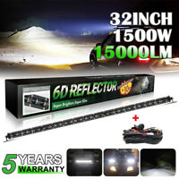 32'' 1500W Barre LED Rampe Light bar phare de travail SUV Offroad 4X4 4WD+wiring