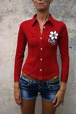 Guru Gang Niña Polo camisa roja de manga larga chaqueta de punto superior 10-11 años Damas XS