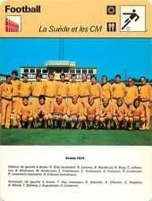 FICHE CARD: 1978 SWEDEN SUÈDE CM PHOTO EQUIPE  FOOTBALL 1970s