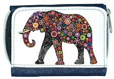 Beautiful Girl/Lady Denim Purse With Unusual Colourful Flower ELEPHANT