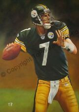 Ben Roethlisberger, Pittsburgh Steelers - Original Hand Painted NFL Oil Painting