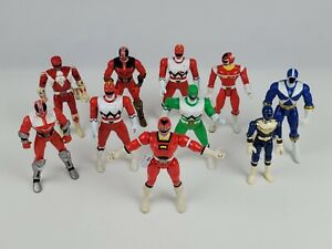 Lot 10 Power Ranger Action Figures Red Blue Green Bandai Vintage & Comtemporary