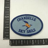Vintage Hang Gliding (I Think) CHANDELLE SKY SAILS Advertising Patch S07G