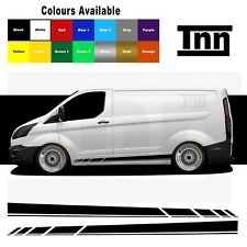 Side Stripe Stickers Graphics Decals Van Vinyl For Ford Transit Custom SWB