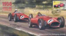 1956b LANCIA Ferari D50 & Maserati 250F, Nurburgring, firmado les Leston