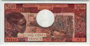Congo 500 Francs 1974 🔸aUNC🔸 Banknote - k193