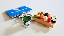 Tokyo Disney Resort Limited Mickey Mouse Sushi Tray Green Tea Keychain BRAND NEW