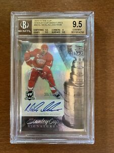 2010-11 Upper Deck The Cup Stanley Cup Signatures Nicklas Lidstrom /50 Red Wings