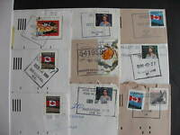 CANADA 9 Saskatchewan mostly POCON cancels on cover (possible duplicates)