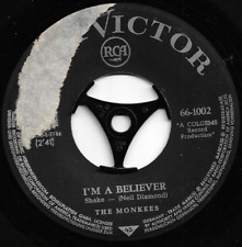 THE MONKEES - I'M A BELIEVER / (I'm not Your) STEPPIN' STONE - ORIGINAL 60s POP
