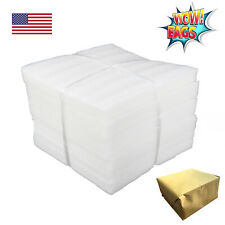 "50 Foam Packing Wrap Sheets 12X12 1/8"" Thick Cushion Shipping Moving Pouches"
