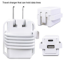 USB C Wall Charger with Foldable Plug Power Delivery 2-Port for iPone/samsung/LG