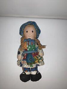 "Vintage Knickerbocker ""The Original Holly Hobbie"" Doll. Pigtails and Bonnet."