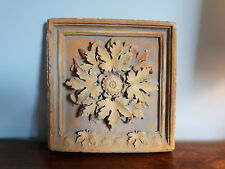 Signed Hayes-Parker Square Relief Moulded Tile with Flower Design (American)