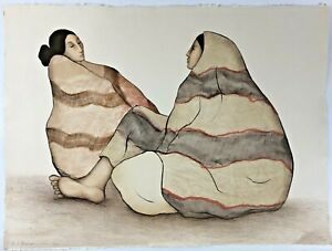 """ORIGINAL 1980 R.C. GORMAN COLOR LITHOGRAPH """"NAVAJO WOMEN"""" SIGNED AND NUMBERED"""