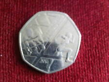 2014  GLASGO COMMONWEALTH GAMES FIFTY PENCE PIECE