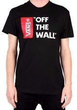 New Mens Vans Of The Wall Original Classic T Shirt Top Tee Black Size XL