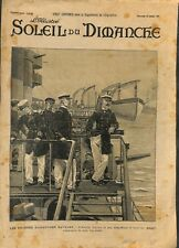 Grand manoeuvres navales amiral Alfred Gervais à bord Bouvet ILLUSTRATION 1900
