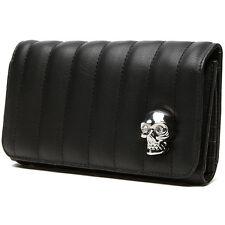 Lux De Ville Lady Vamp Wallet Black Matte Skull Rockabilly Psychobilly Pin Up