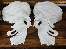 Wandkonsole Porzellan Set Engel Antik Luxus Konsole Jugendstil Barock Edel Regal